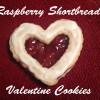 Raspberry Shortbread Valentine Cookies