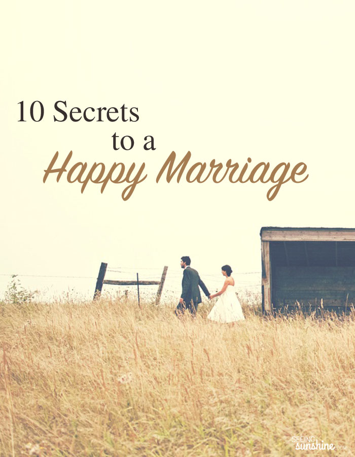Read these 10 secrets to a happy marriage and make your marriage healthier and happier this week!