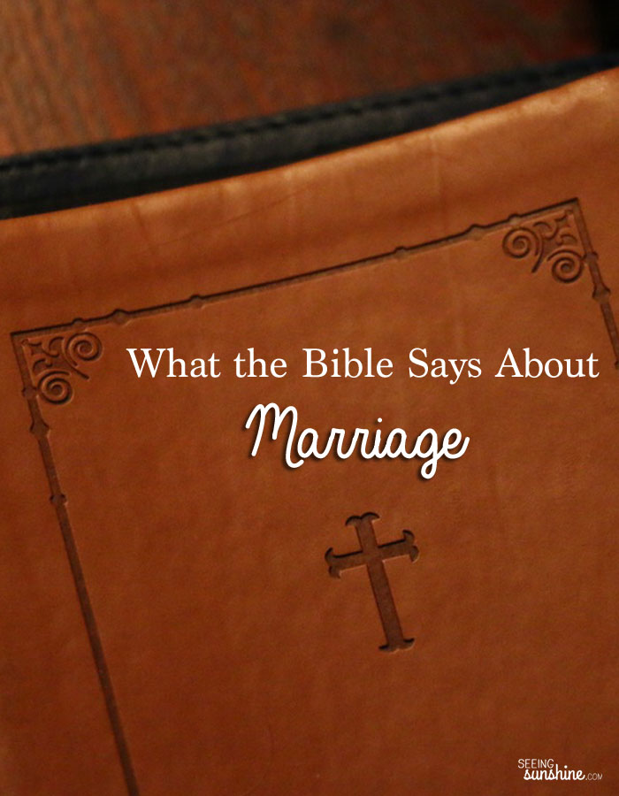Learn what the Bible has to say about marriage.