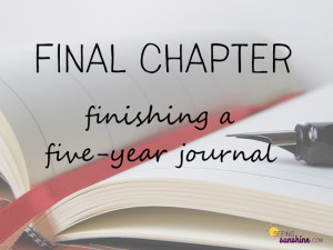 Final Chapter: Finishing a Journal