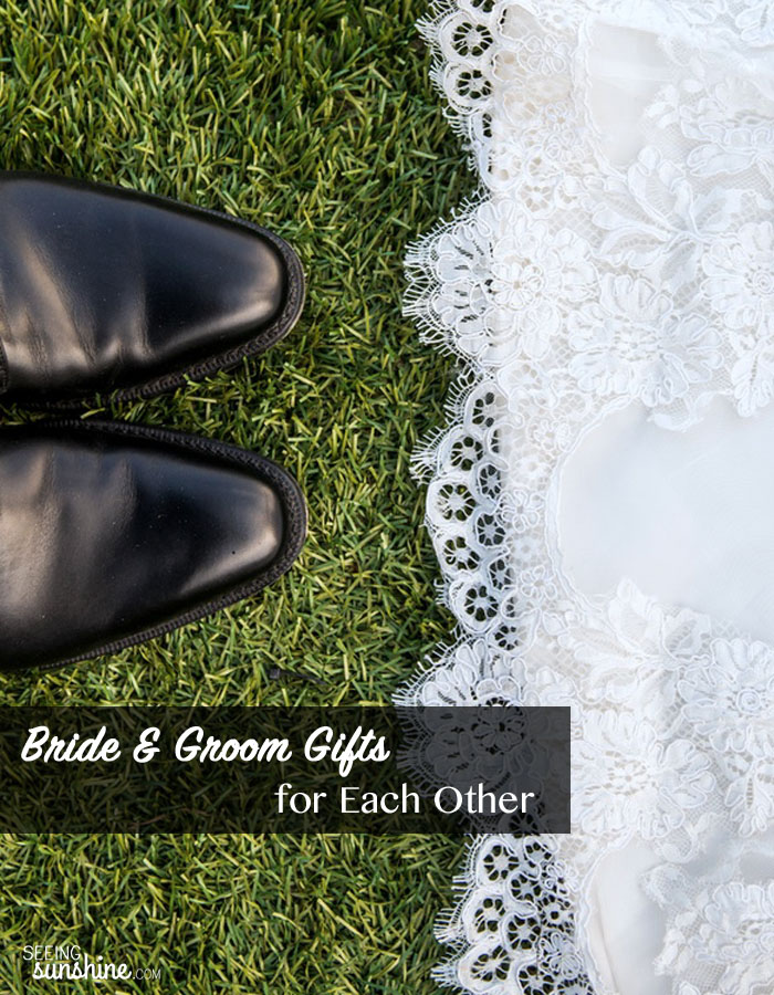 Check out these bride and groom gifts to give each other. What other ideas do you have?