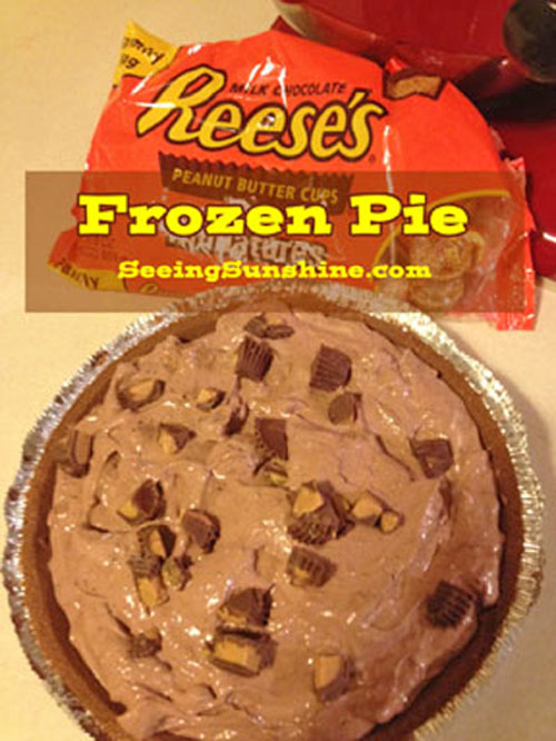 Reese's Frozen Pie - Seeing Sunshine