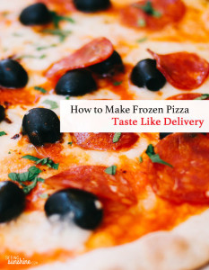 Turning Frozen Pizza into a Delivery-Like Delicacy