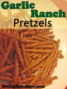 Holiday Munchies: Garlic Ranch Pretzels