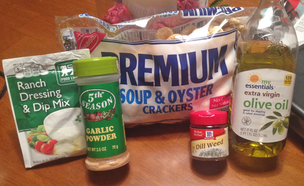 Ingredients for Oyster Crackers