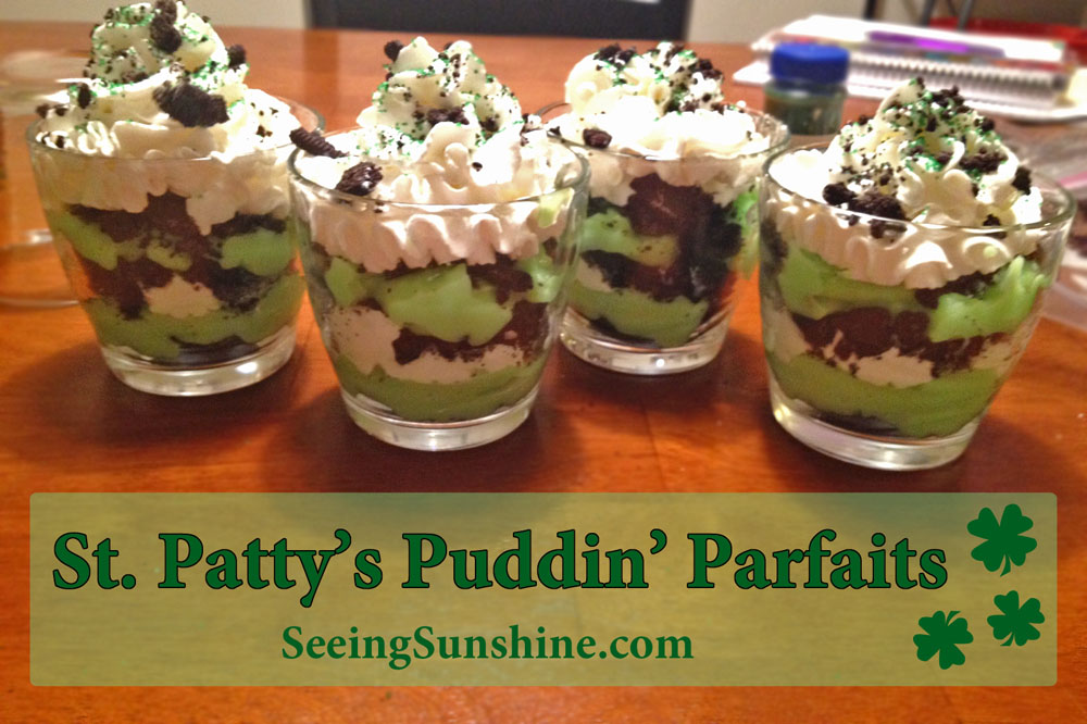 St. Patty's Puddin' Parfaits