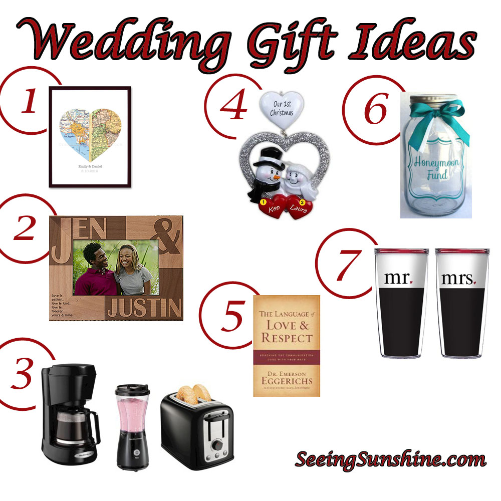 Wedding Gift For Groom And Bride : Wedding Gift Ideas - Seeing Sunshine