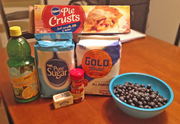 Ingredients for Blueberry Pie