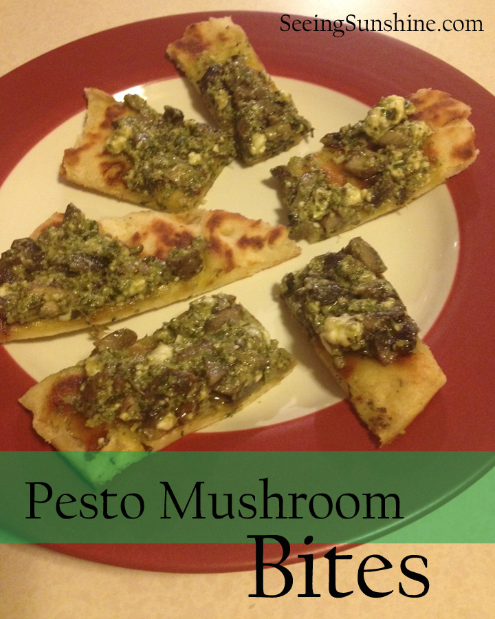 Pesto Mushroom Bites