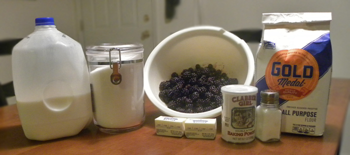 Ingredients for Berry Cobbler