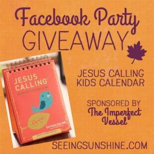 Jesus Calling Kids Calendar Giveaway