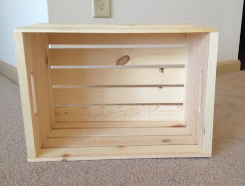 diy crate nightstand - seeing sunshine How to Make a Nightstand out of Wood