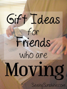Gift Ideas for Moving Friends