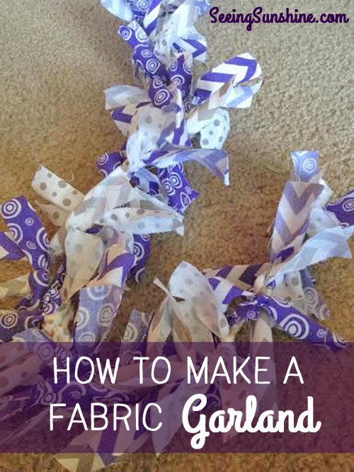 How to Make a Fabric Garland with Step-by-Step photos