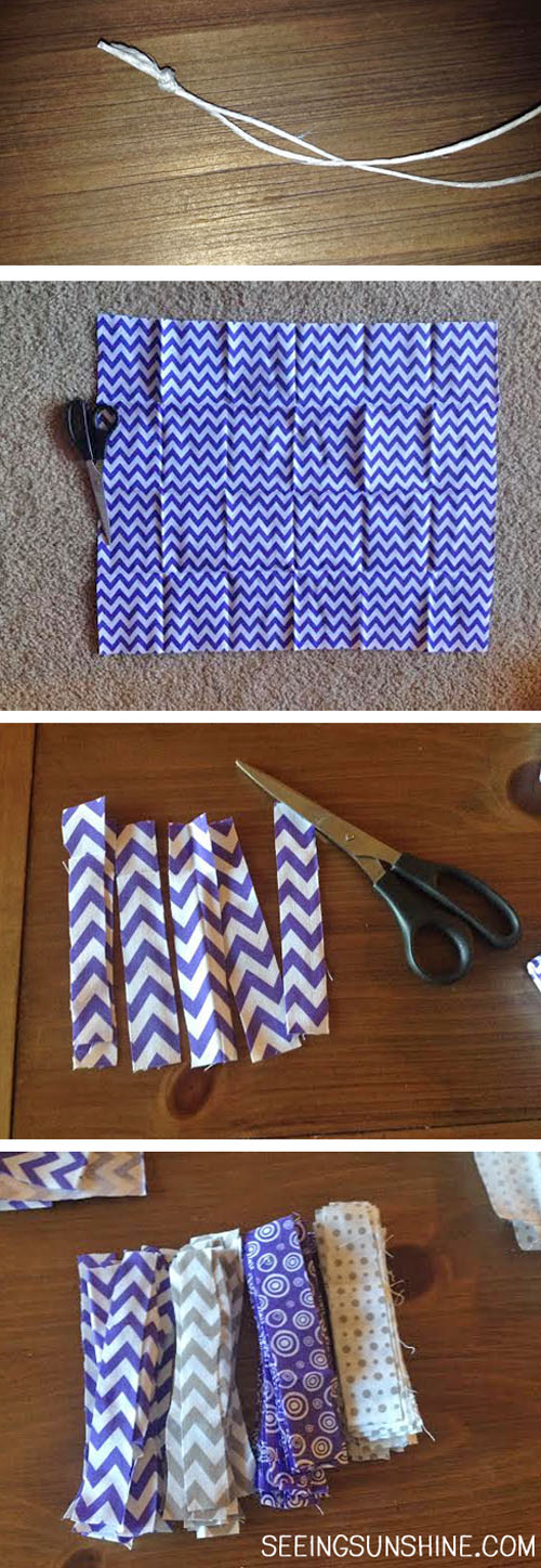 Making a Fabric Garland -- First Steps
