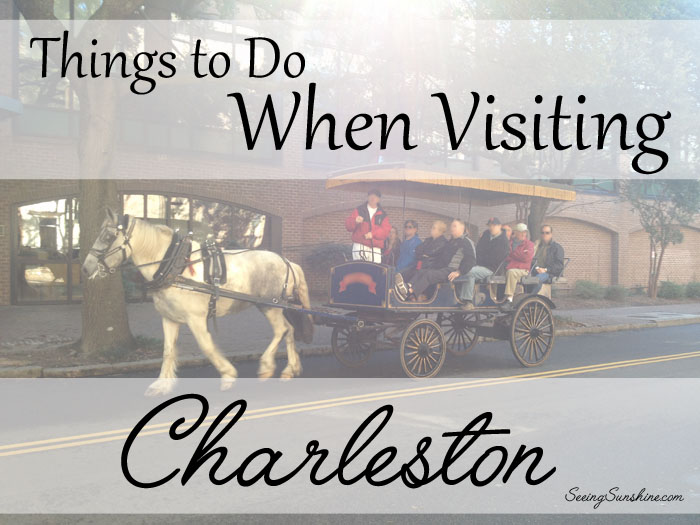 Things to do when visiting charleston seeing sunshine for Things to do in charleston nc