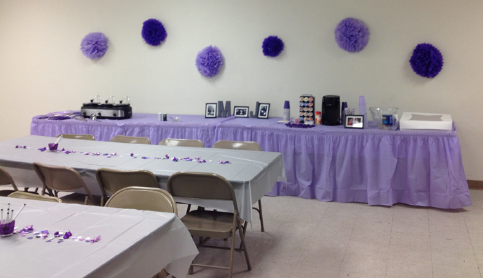 Purple and Grey Bridal Shower Ideas Seeing Sunshine