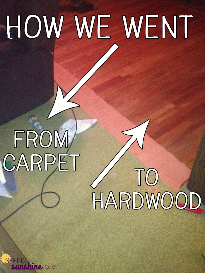 how to change carpet to hardwood