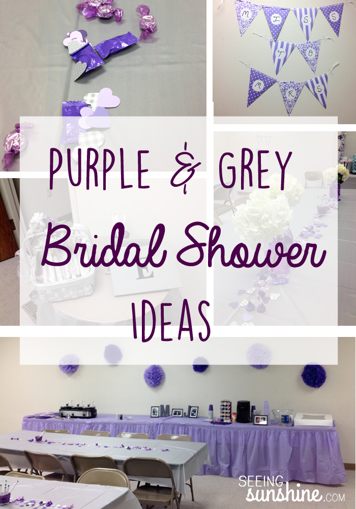 Purple and Grey Bridal Shower Ideas