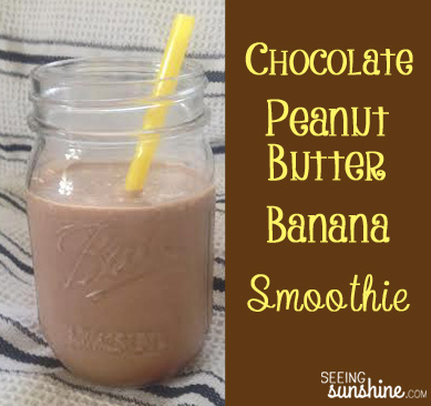 Chocolate Peanut Butter Banana Smoothie)