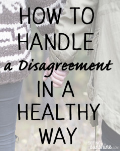 How To Handle a Disagreement