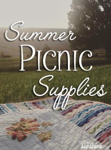 Summer Picnic Supplies