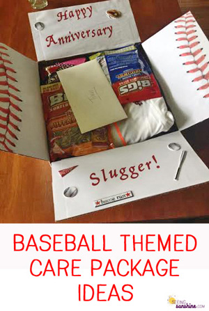 Baseball Theme Care Package Ideas