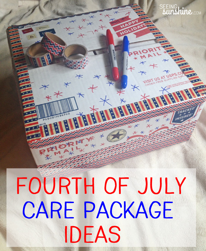 Fourth of July Care Package Ideas