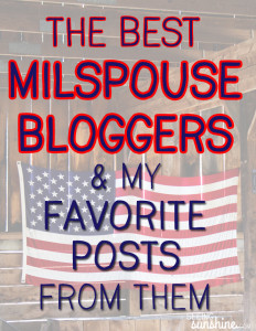 Favorite Friday: MilSpouse Bloggers