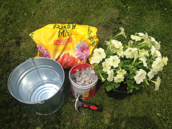 Bucket Flower Planter DIY