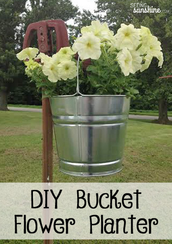 DIY Bucket Flower Planter