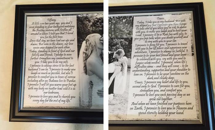 Wedding Vows Made Into Art