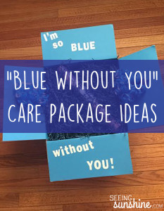 """Blue Without You"" Care Package"