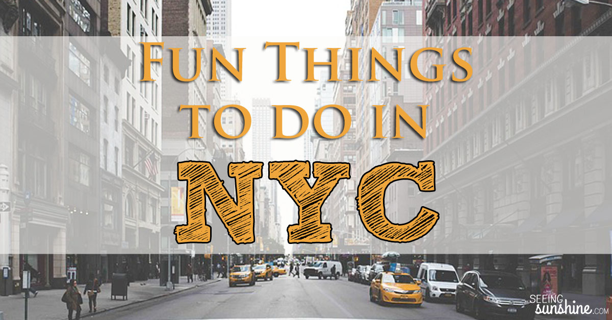 fun things to do in nyc seeing sunshine