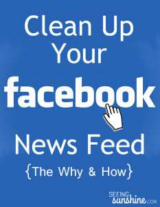 Cleaning Up Your Facebook News Feed