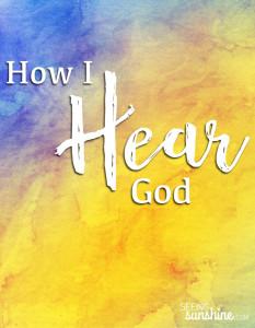 How I Hear God
