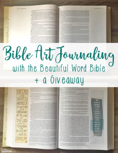 Bible Art Journaling with the Beautiful Word Bible