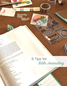 Tips for Bible Journaling + Giveaway