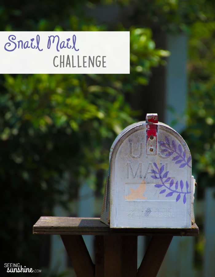 I challenge you to send encouraging and uplifting snail mail every day for the next 21 days!