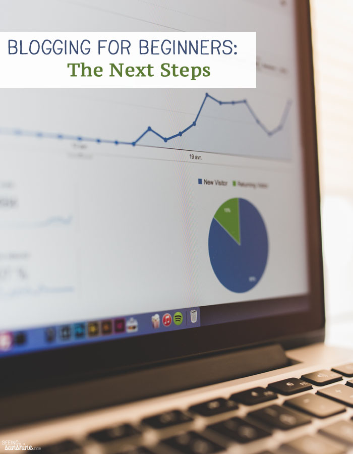 Blogging for Beginners: Check out these next steps you should take including joining blogging Facebook groups, installing Google Analytics, and more.