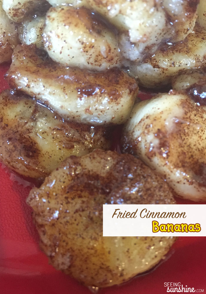 Try these tasty and super easy to make fried cinnamon bananas. Perfect for a snack or dessert!