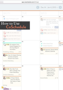How to Use CoSchedule