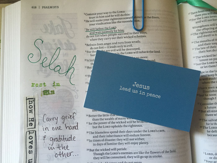 Find your Selah in Bible journaling with these tools from Illustrated Faith.
