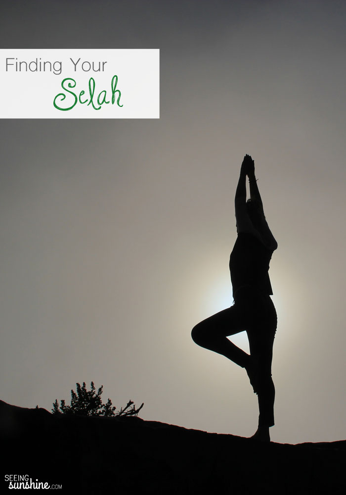 Selah is a quiet hush. It is a time to breathe and listen. A time to hear God and feel God. Where do you find your Selah? Learn how I found my Selah in a yoga class.