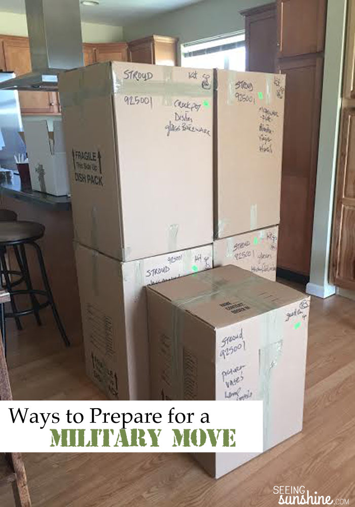 Preparing for a military move? Before your next PCS, be sure to read these tips so you can be ready!