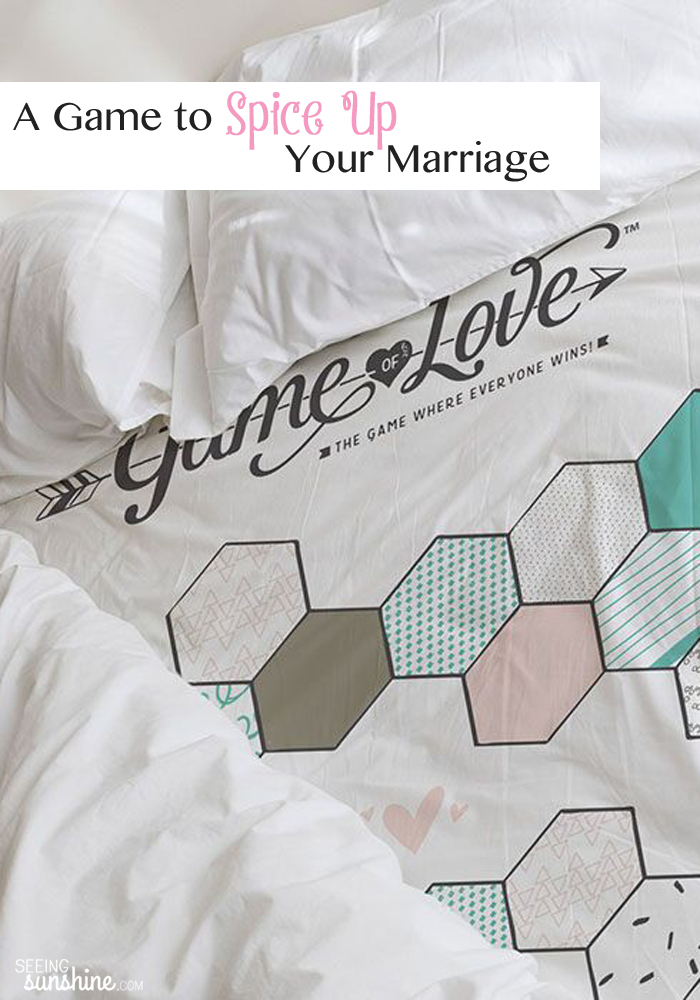 Spice up your marriage with this fun intimate game for the bedroom!