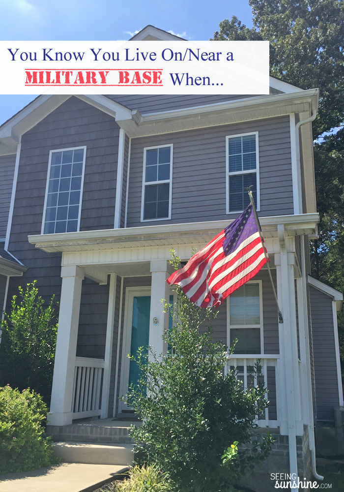 You know you live on a military base when... Check out this funny post for those in the military community!