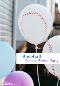 Baseball Gender Reveal Party