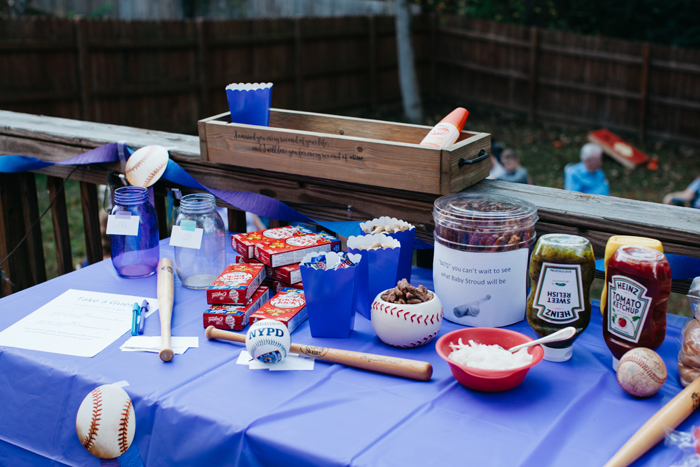Baseball Gender Reveal Party Food