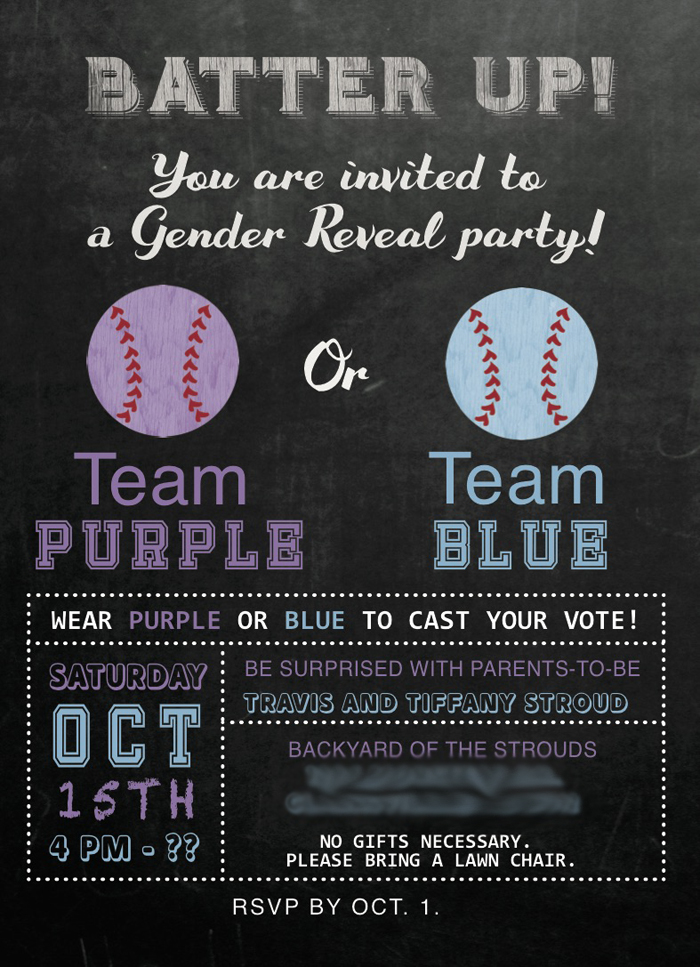 Baseball Gender Reveal Party Ideas -- Seeing Sunshine